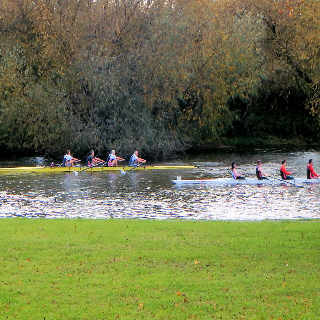 """The Boat Race"" stock image"