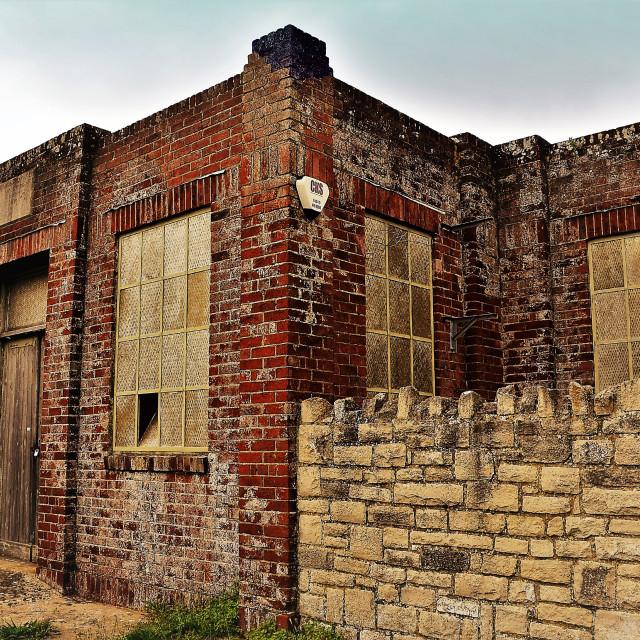 """Old brick Store"" stock image"