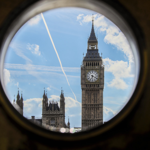 """Telescopic View of Big Ben"" stock image"