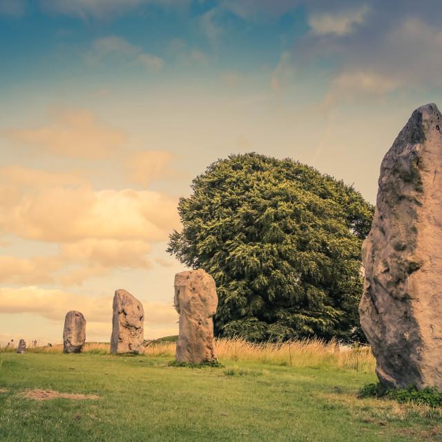 """""""Avebury Stone Circle"""" stock image"""