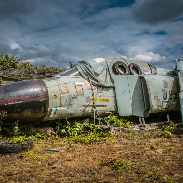 """Wrecked aircraft"" stock image"