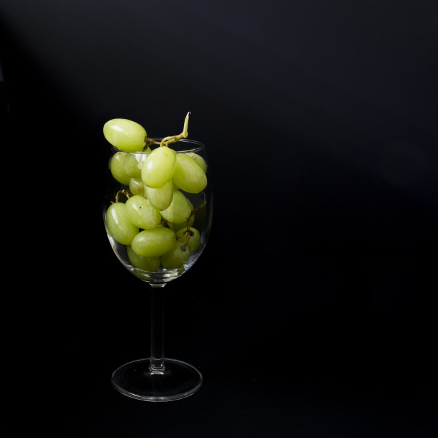 """A glass of white wine"" stock image"
