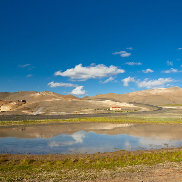 """""""Icelandic landscape - Namafjall."""" stock image"""