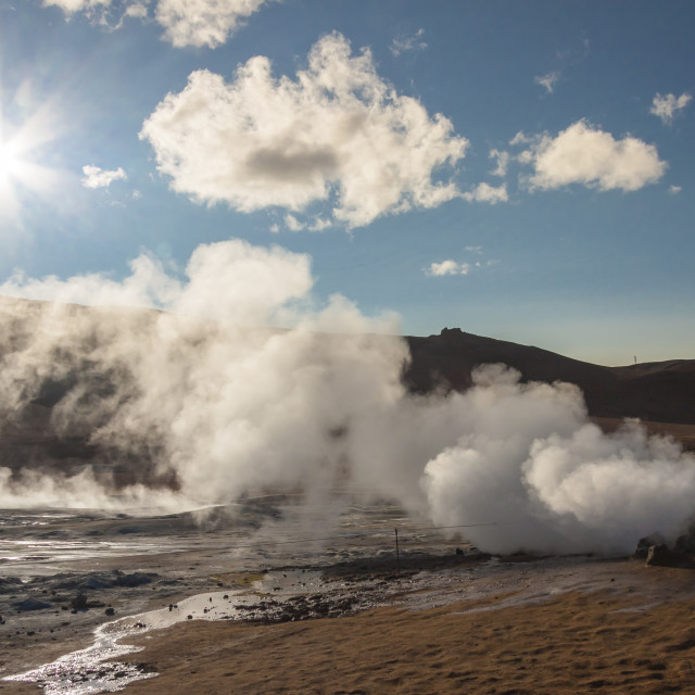"""""""Namafjall, Iceland. Sunny day."""" stock image"""