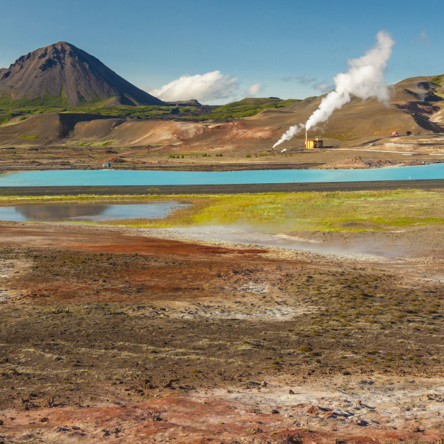 """""""Colourful landscape in Myvatn area - Iceland."""" stock image"""