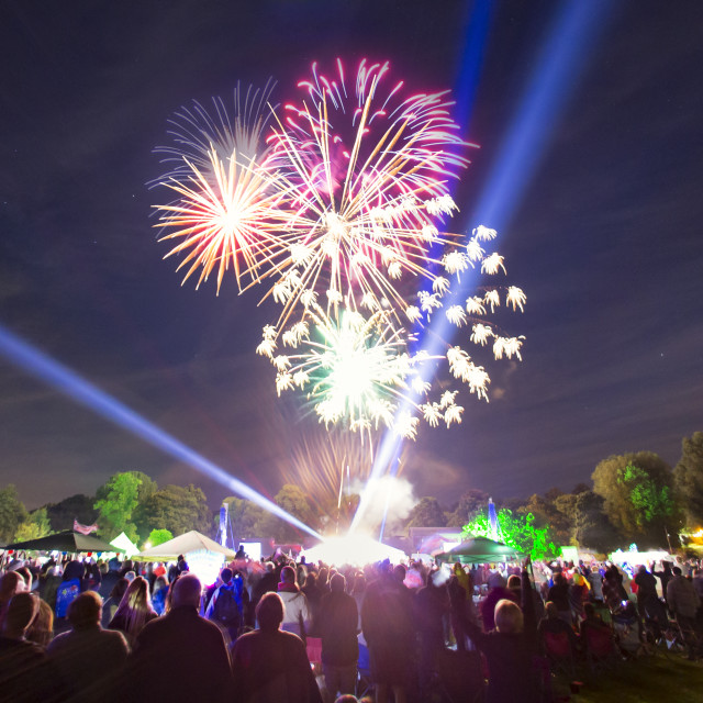 """Lichfield Proms in the Park"" stock image"
