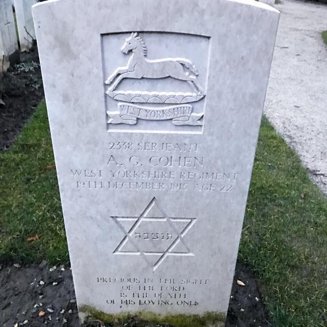 """Jewishness War Grave"" stock image"
