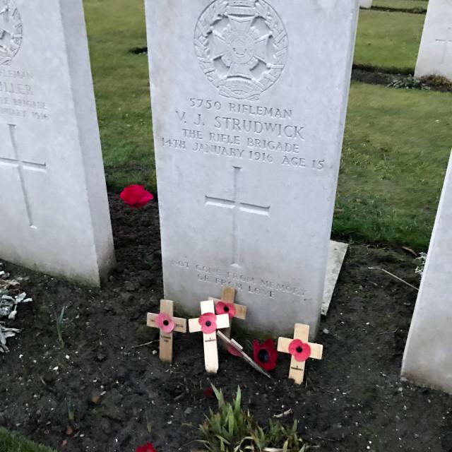 """""""V. J. Strudwick's Grave"""" stock image"""