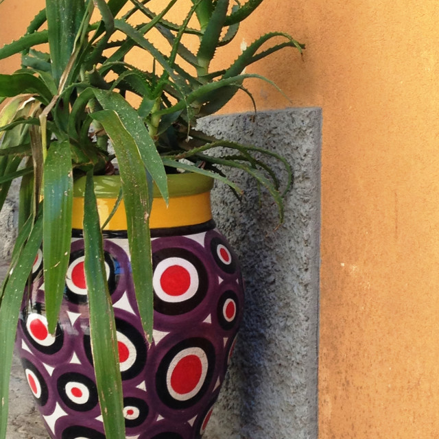"""Bright ceramic vase in Taormina"" stock image"