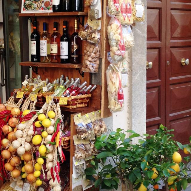 """""""Shop front, Taormina"""" stock image"""