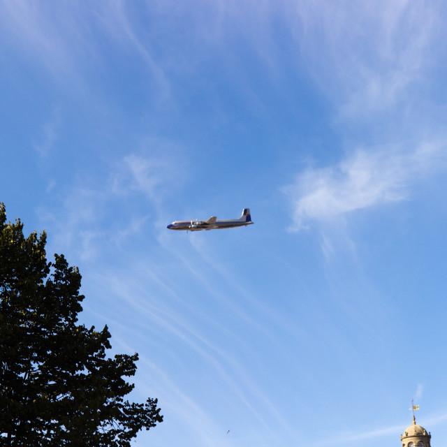 """Side Act - Flying Bulls DC-6"" stock image"