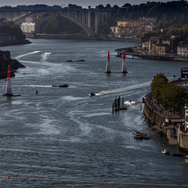"""Red Bull Air Race Porto and Vila Nova de Gaia, Portugal"" stock image"
