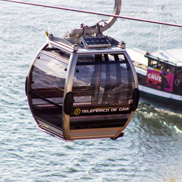 """Vila Nova de Gaia's cable car"" stock image"
