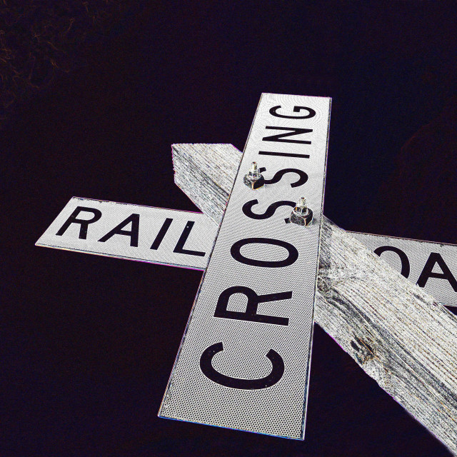 """Railroad Crossing"" stock image"