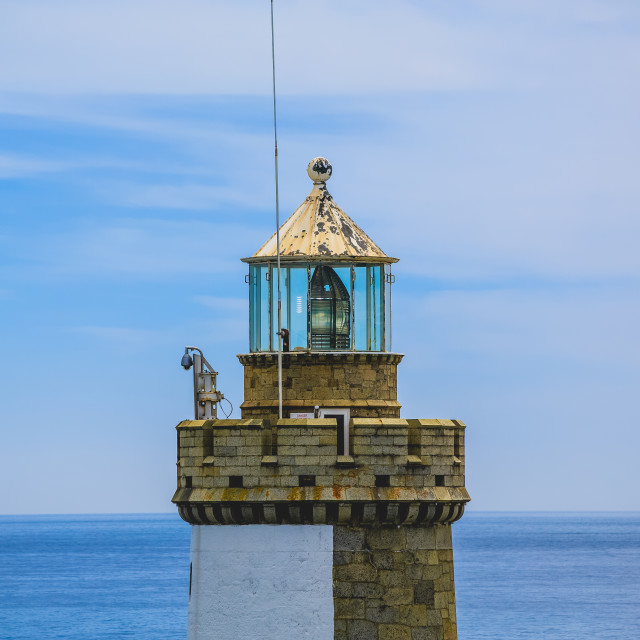 """""""St Peter Port Guernsey, Channel Isles"""" stock image"""