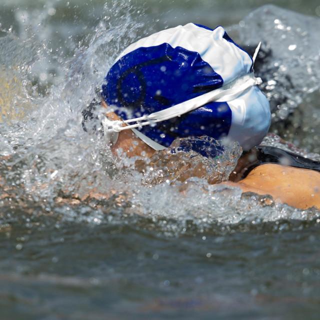 """Triathlon , Swimming"" stock image"