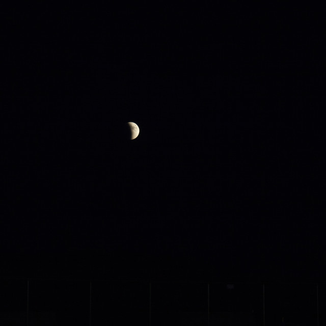 """""""Partial Eclipse of the Moon"""" stock image"""