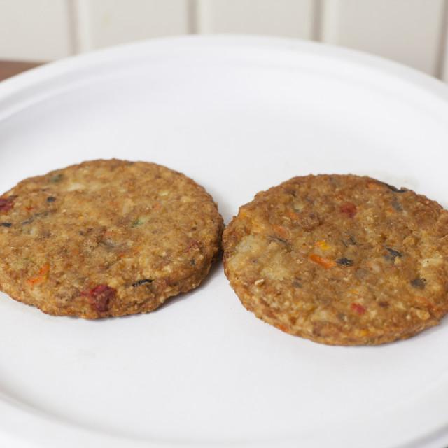"""Veggie Burgers"" stock image"