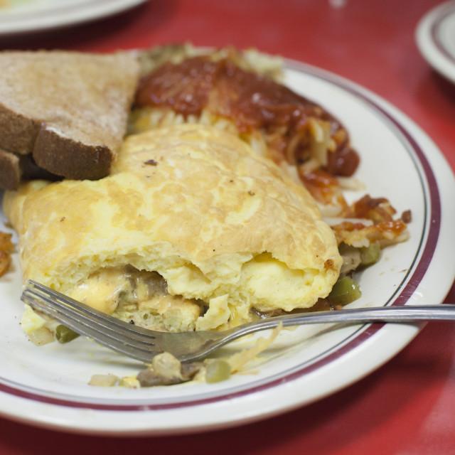 """Large Breakfast"" stock image"