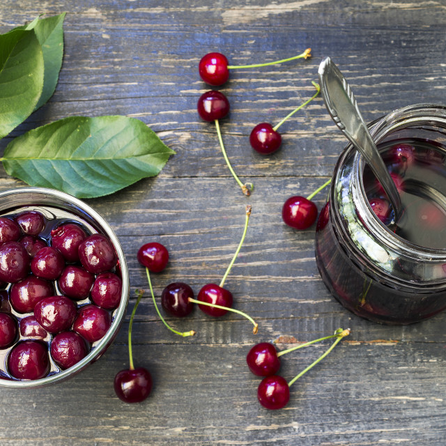 """""""Canned cherry"""" stock image"""
