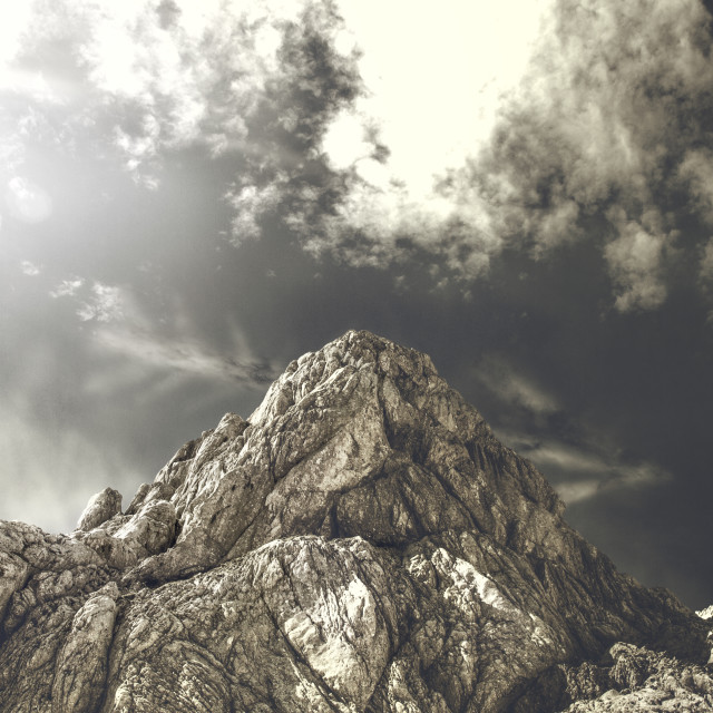 """""""One of the peaks on mount Durmitor"""" stock image"""