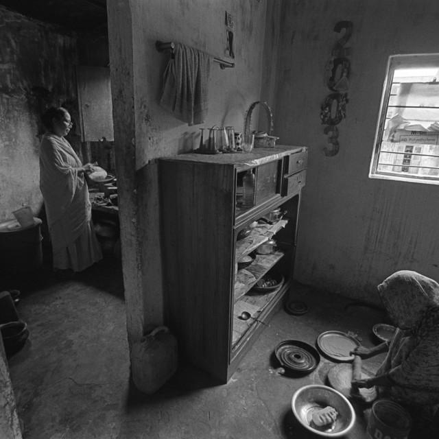 """""""Women working in Old Dhaka, Bangladesh."""" stock image"""
