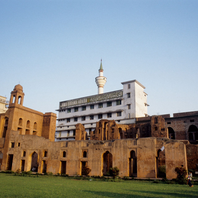 """Lalbagh Fort (Lalbagh Kella) is an incomplete Mughal fortress at Dhaka on the..."" stock image"