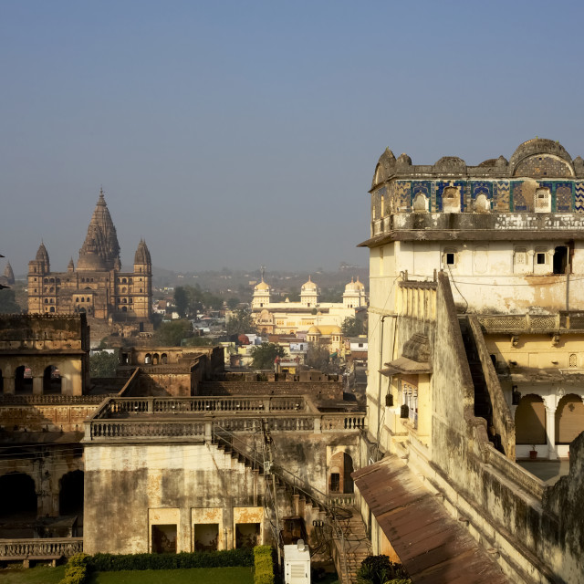 """Rajput Palace And Temple View"" stock image"