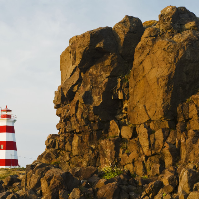 """Brier Island Lighthouse, Bay Of Fundy; Brier Island, Nova Scotia, Canada"" stock image"