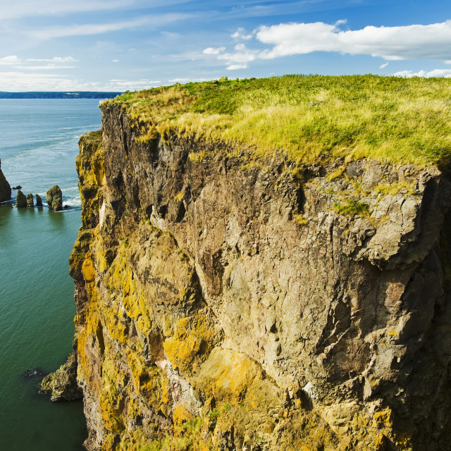 """Cape Split Along The Bay Of Fundy; Nova Scotia, Canada"" stock image"