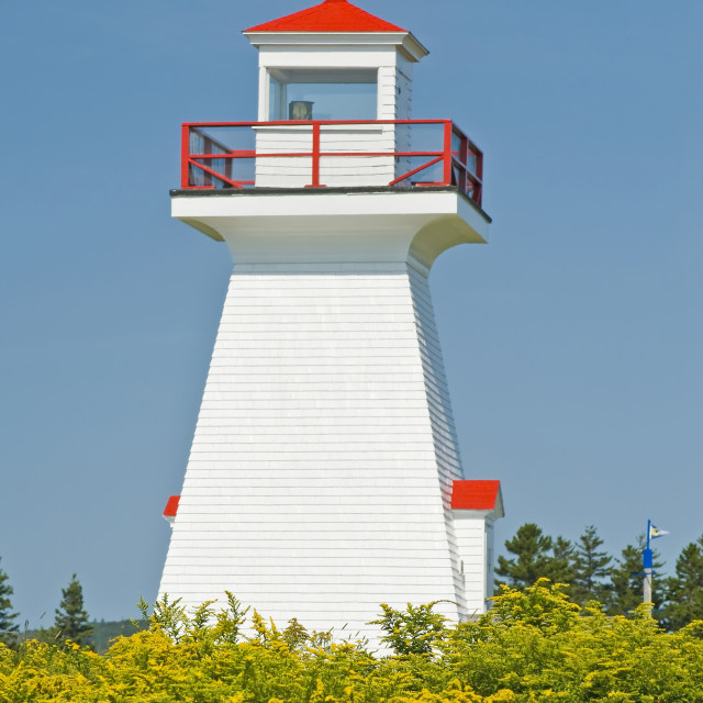 """Five Islands Lighthouse Provincial Park, Minas Basin, Bay Of Fundy; Nova..."" stock image"