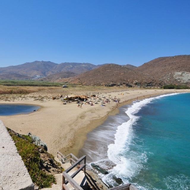 """Kolibithra_ la spiaggia surf _ Tinos_ Greece"" stock image"