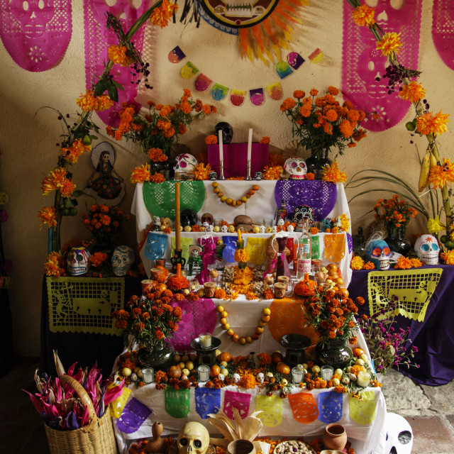 """""""Day Of The Dead Celebrations; Oaxaca, Mexico"""" stock image"""