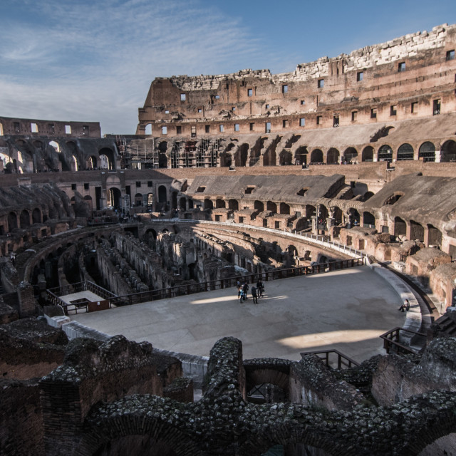"""Rome Colosseum Inside."" stock image"
