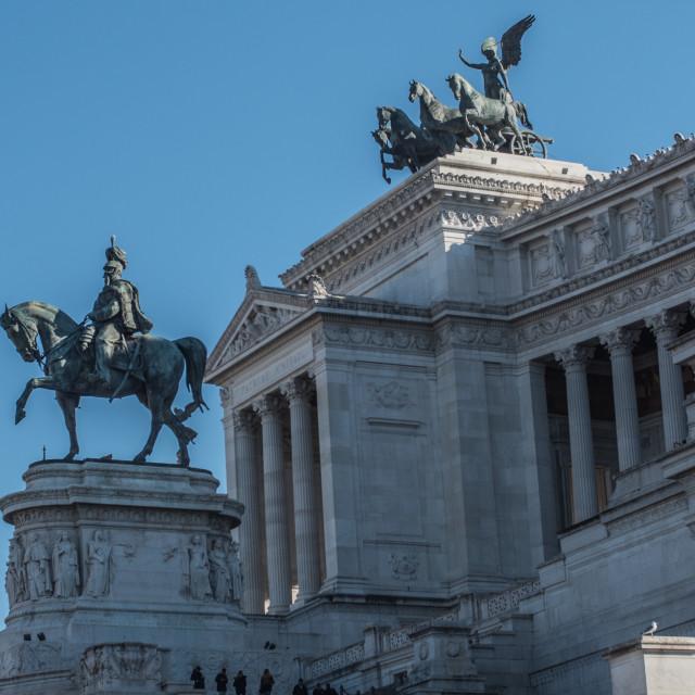 """""""The Monumento Nazionale a Vittorio Emanuele"""" stock image"""