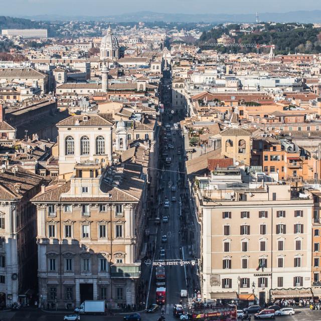 """Rome Main Street."" stock image"