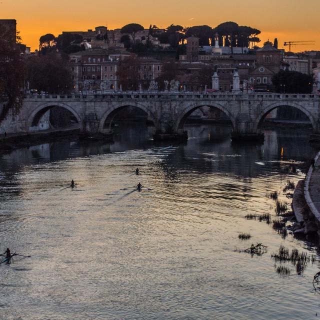 """Suneset in Rome."" stock image"