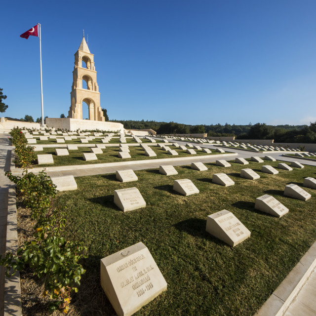 """Turkish 57th Infantry Regiment Memorial, Gallipoli Peninsula; Canakkale, Turkey"" stock image"