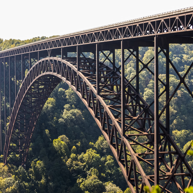 """The New River Gorge Bridge Is A Steel Arch Bridge 3,030 Feet Long Over The..."" stock image"