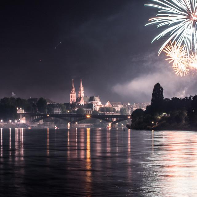"""Switzerland Fireworks"" stock image"