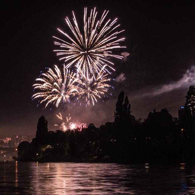 """Fireworks in Switzerland."" stock image"