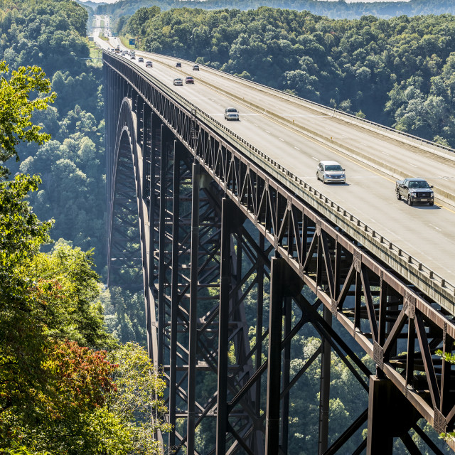 """The New River Gorge Bridge, A Steel Arch Bridge 3,030 Feet Long Over The New..."" stock image"