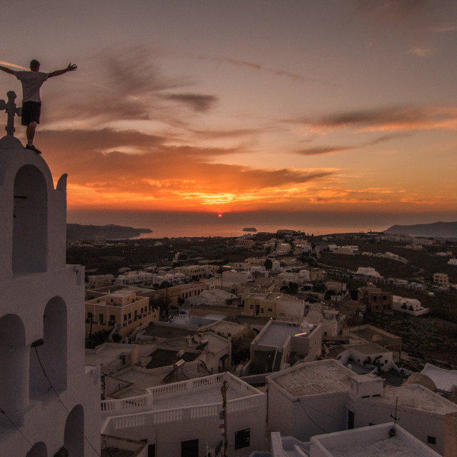 """The Best Santorini Sunset..."" stock image"