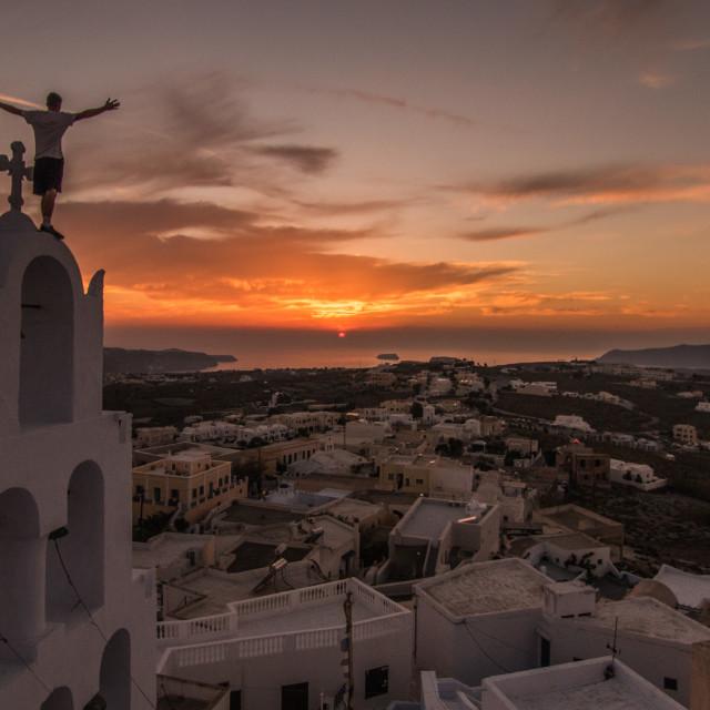 """The Best Santorini Sunset..."" stock image"