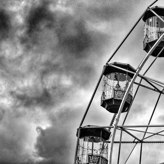 """""""Fun on the ferris wheel."""" stock image"""