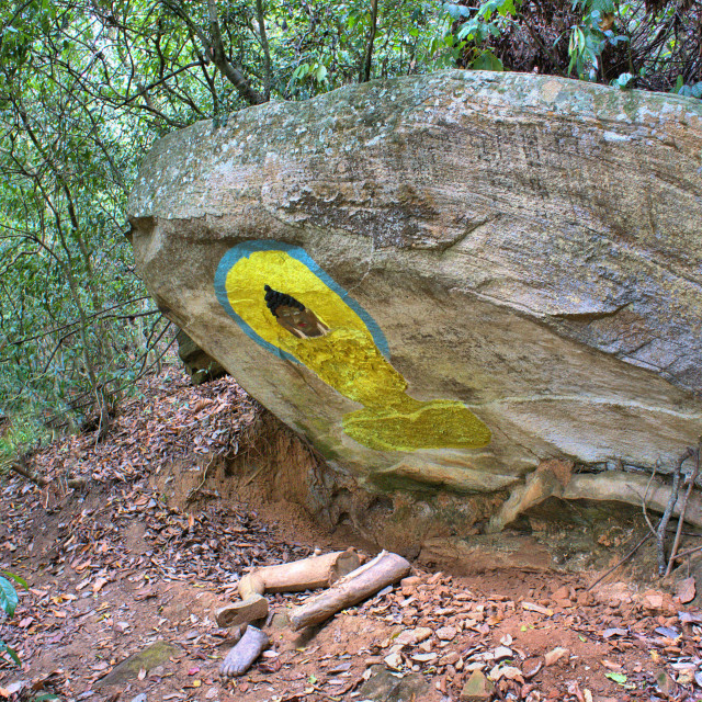 """""""Hermit Monk Cave"""" stock image"""