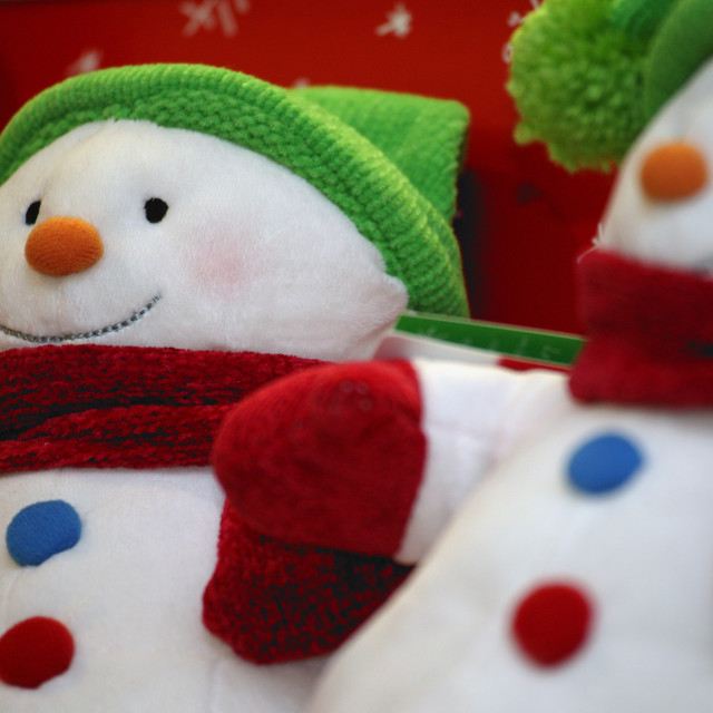 """Close-Up Of Two Christmas Decorations ( Snowmen )"" stock image"