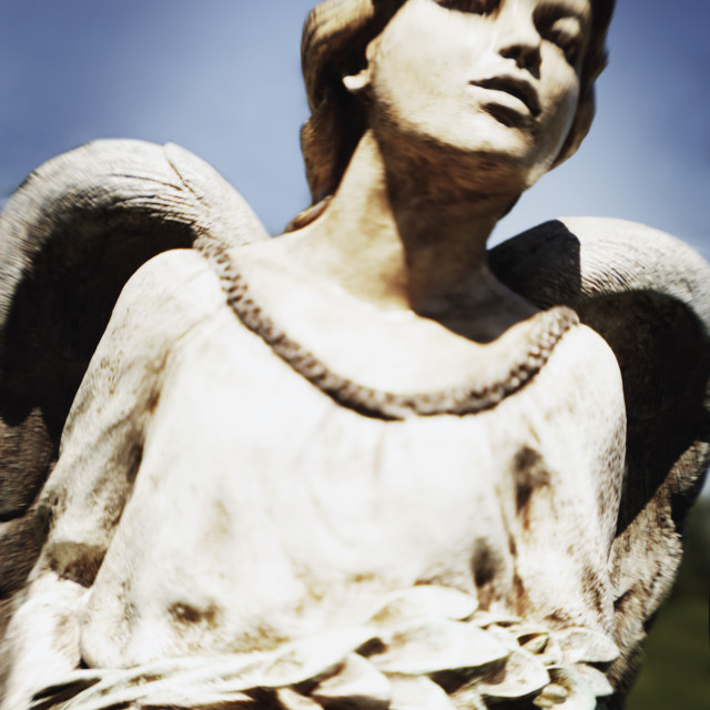 """""""Carved Statue Of An Angel"""" stock image"""