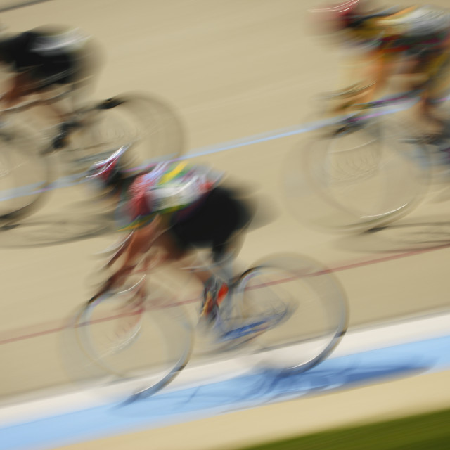 """""""Cyclists Racing On A Track"""" stock image"""