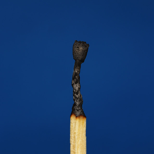 """Wooden Match Blown Out"" stock image"